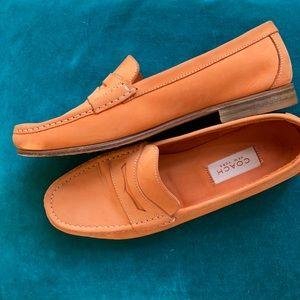 Coach NY light orange nubuc penny loafers 9M